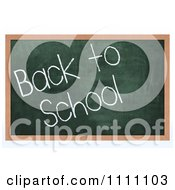 Clipart 3d Chalk Board With Back To School Text Royalty Free CGI Illustration