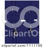 Clipart 3d Blue School Lockers With Padlocks Royalty Free CGI Illustration