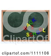Clipart 3d Chalk Board With Back To School Magnets Royalty Free CGI Illustration