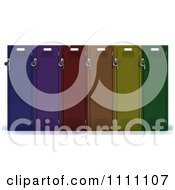 Clipart 3d Colorful School Lockers With Padlocks Royalty Free CGI Illustration
