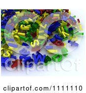Clipart Pile Of 3d Letter Magnets Royalty Free CGI Illustration