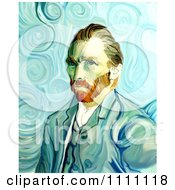 Clipart Revision Of Goghs 1889 Self Portrait Royalty Free Illustration