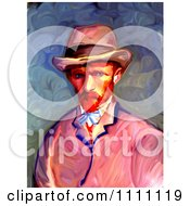 Clipart Revision Of Goghs 1887 Self Portrait Royalty Free Illustration