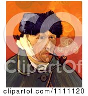 Clipart Revision Of Goghs 1889 Self Portrait With Bandaged Ear Royalty Free Illustration by Prawny Vintage