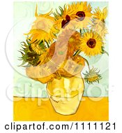 Clipart Revision Of Goghs Sunflowers Royalty Free Illustration by Prawny Vintage