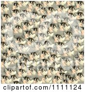 Clipart Collage Pattern Of Victorian Angel Girls Royalty Free Illustration