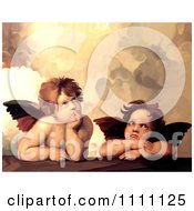 Clipart The Two Cherubs From Sistine Madonna Royalty Free Illustration