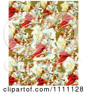 Clipart Collage Pattern Of Victorian Christmas Angels Royalty Free Illustration