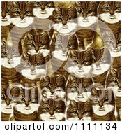 Clipart Collage Pattern Of Victorian Cats Royalty Free Illustration