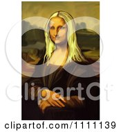 Poster, Art Print Of Blond Mona Lisa Portrait