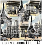 Clipart Collage Of Photochrome Paris Architecture Royalty Free Photo