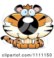 Clipart Cute Happy Tiger Cub Royalty Free Vector Illustration