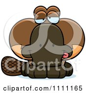 Clipart Cute Drunk Platypus Royalty Free Vector Illustration by Cory Thoman