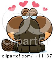Clipart Cute Amorous Platypus Royalty Free Vector Illustration by Cory Thoman