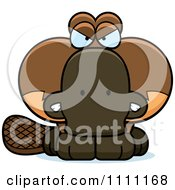 Clipart Cute Angry Platypus Royalty Free Vector Illustration by Cory Thoman