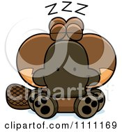 Clipart Cute Sleeping Platypus Royalty Free Vector Illustration by Cory Thoman