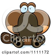 Clipart Cute Sitting Platypus Royalty Free Vector Illustration by Cory Thoman