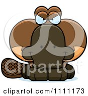 Clipart Cute Sly Platypus Royalty Free Vector Illustration by Cory Thoman