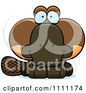 Clipart Cute Happy Platypus Royalty Free Vector Illustration by Cory Thoman