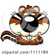 Clipart Cute Depressed Chipmunk Royalty Free Vector Illustration