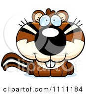 Clipart Cute Chipmunk Royalty Free Vector Illustration by Cory Thoman