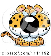 Clipart Cute Sly Leopard Cub Royalty Free Vector Illustration