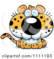 Clipart Cute Happy Leopard Cub Royalty Free Vector Illustration