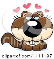 Clipart Cute Amorous Baby Squirrel Royalty Free Vector Illustration