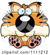 Clipart Cute Sitting Bobcat Cub Royalty Free Vector Illustration