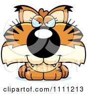 Clipart Cute Sly Bobcat Cub Royalty Free Vector Illustration by Cory Thoman