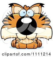 Clipart Cute Happy Bobcat Cub Royalty Free Vector Illustration