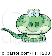 Clipart Cute Gecko Lizard Royalty Free Vector Illustration by Cory Thoman