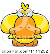 Clipart Cute Sly Duck Royalty Free Vector Illustration by Cory Thoman