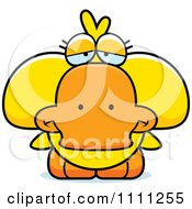 Clipart Cute Depressed Duck Royalty Free Vector Illustration by Cory Thoman
