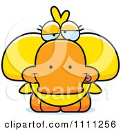 Clipart Cute Drunk Duck Royalty Free Vector Illustration by Cory Thoman