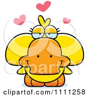 Clipart Cute Amorous Duck Royalty Free Vector Illustration by Cory Thoman