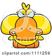 Clipart Cute Angry Duck Royalty Free Vector Illustration by Cory Thoman