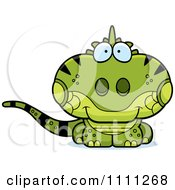 Clipart Cute Iguana Lizard Royalty Free Vector Illustration by Cory Thoman