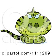 Clipart Cute Sly Iguana Lizard Royalty Free Vector Illustration by Cory Thoman