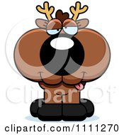 Clipart Cute Drunk Deer Fawn Royalty Free Vector Illustration by Cory Thoman