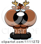 Clipart Cute Depressed Deer Fawn Royalty Free Vector Illustration by Cory Thoman