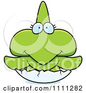 Clipart Cute Hatching Pterodactyl Dinosaur Royalty Free Vector Illustration by Cory Thoman