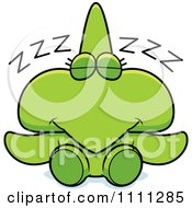 Clipart Cute Sleeping Pterodactyl Dinosaur Royalty Free Vector Illustration by Cory Thoman