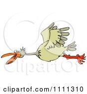 Clipart Happy Bird Flying Royalty Free Vector Illustration
