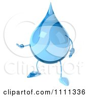 Clipart 3d Presenting Water Droplet Royalty Free CGI Illustration