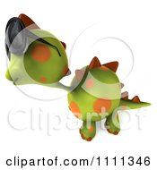 Clipart 3d Spotted Dino Wearing Sunglasses And Facing Left Royalty Free CGI Illustration