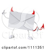 Clipart 3d Devil Email Envelope Character With An Idea Royalty Free CGI Illustration