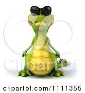 Clipart 3d Crocodile Wearing Shades Royalty Free CGI Illustration