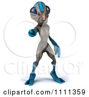 Clipart 3d Alien Pointing At You Royalty Free CGI Illustration