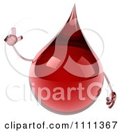3d Blood Drop Character With An Idea